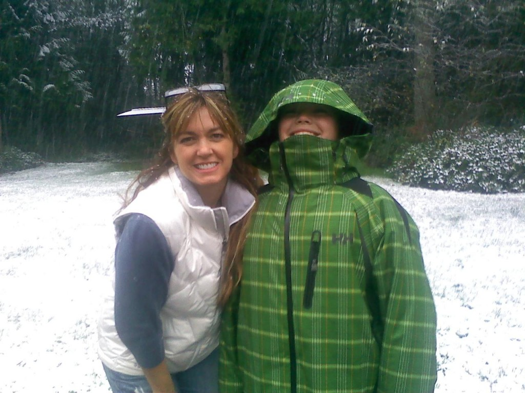 Jane and son Ty having fun in the snow
