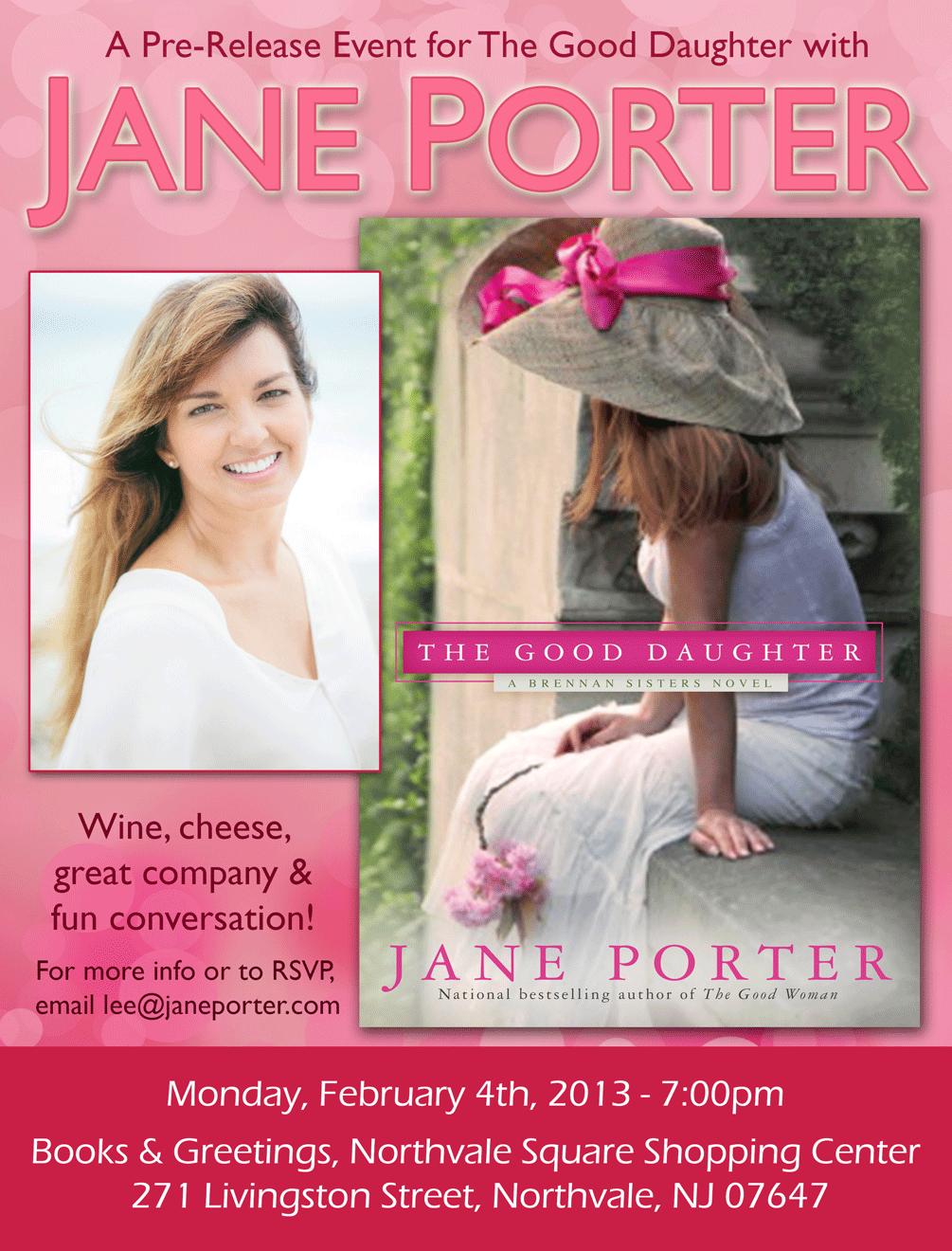 Pre Release Event In Nj Good Daughter Giveaway Jane Porter